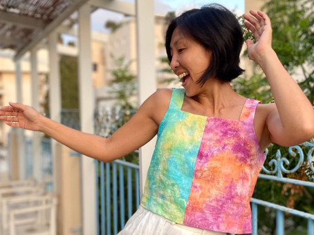 Tie-Dyeing the Reynolds Top/Dress by Helen's Closet Patterns