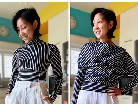 Eva Mockneck Top (by Cool Stitches) & Lou Top by (Capsule Patterns)