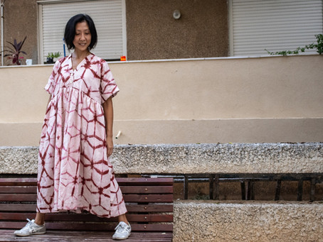 Pattern Review: Shibori (Almost) Zero Waste Gather Dress