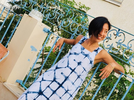 Wide-Strap Maxi Dress & My First Shibori Attempt