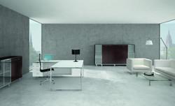 AreaTonic X7 glass executive desk