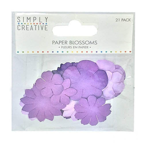 Simply Creayive Flores papel 21 uds
