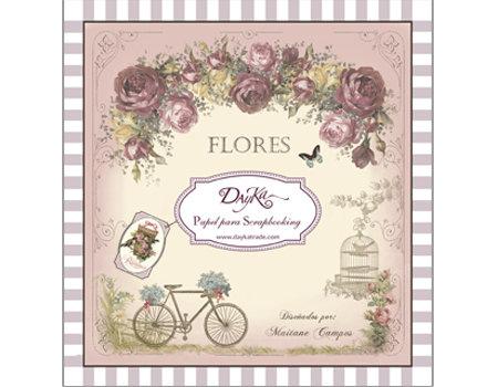 """Dayka """"Flores"""" 20x20 cm 24 hojas"""