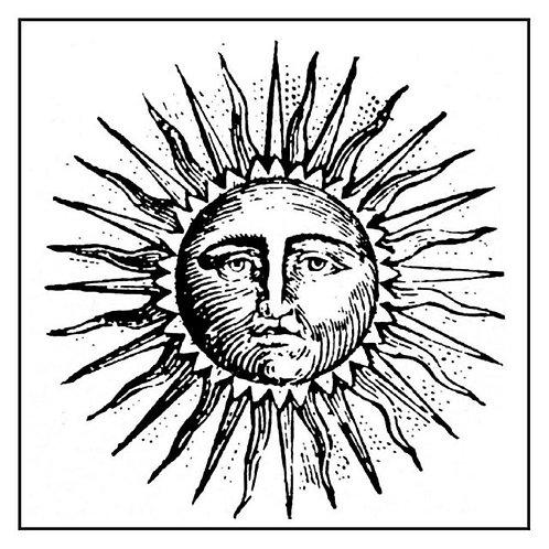 HD sello de goma natural cm.10x10 Sol