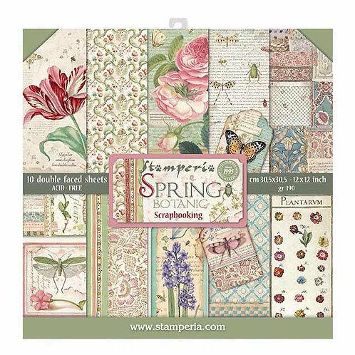 """Stamperia""""Spring Botanical"""" 30,5x30,5"""
