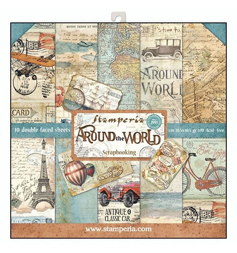 "Stamperia""Around the World"" 30,5x30,5"