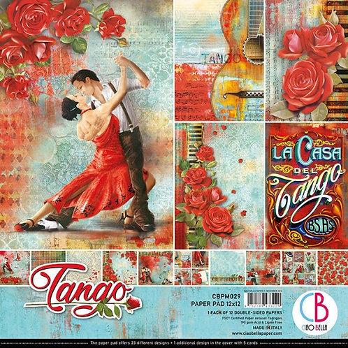 """CIAO BELLA""""Tango""""12""""x12"""" 12 papeles"""