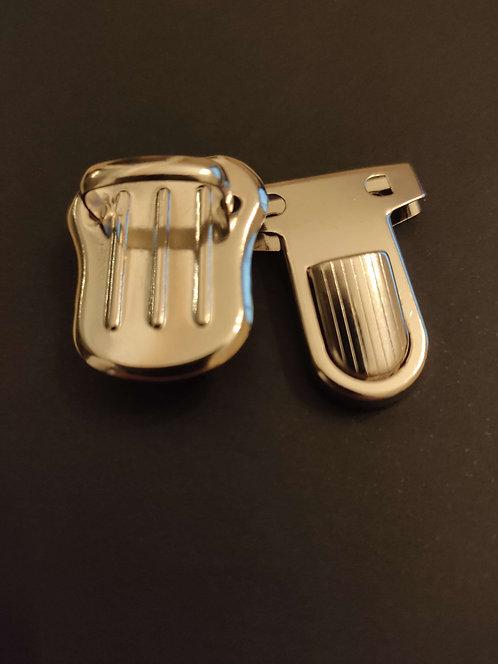 Cierres metal plateado (1 uds)