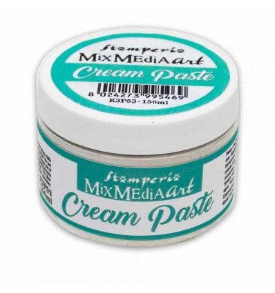 """Pasta Mix media """"Cream Paste"""" de Stamperia"""