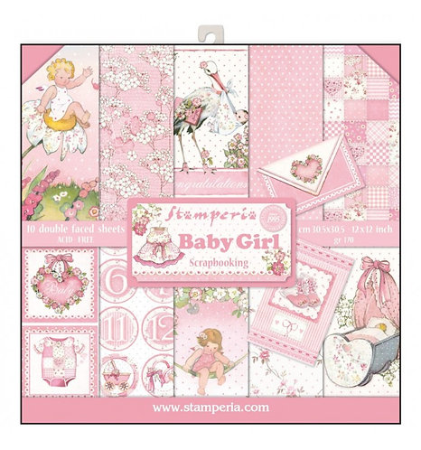 """Stamperia""""Baby Girl"""" 30,5x30,5"""