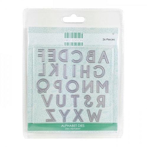 troqueles abecedario sans serif 26 piezas