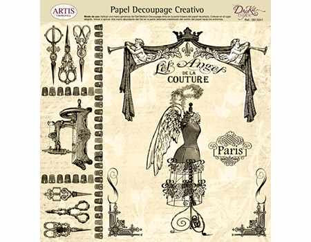 Dayka papel Decoupage 32 x 31 costura