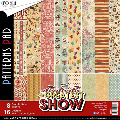 """CIAO BELLA""""Greatest Show""""12""""x12"""" 8 papeles"""