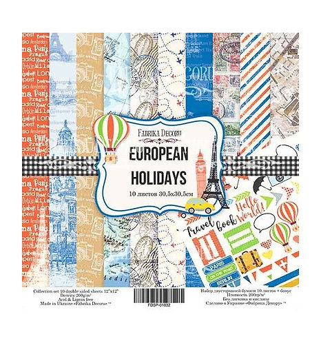 "Fabrika decoru ""European Holidays"" 30,5 X 30,5"