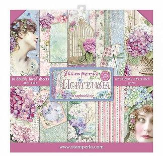 "Stamperia""Hortensia"" 10 hojas 30,5x30,5"