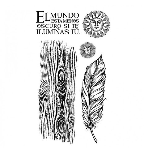 """Sello Alta Defin. caucho cm. 10x16,5 """"Cosmos Pluma"""""""