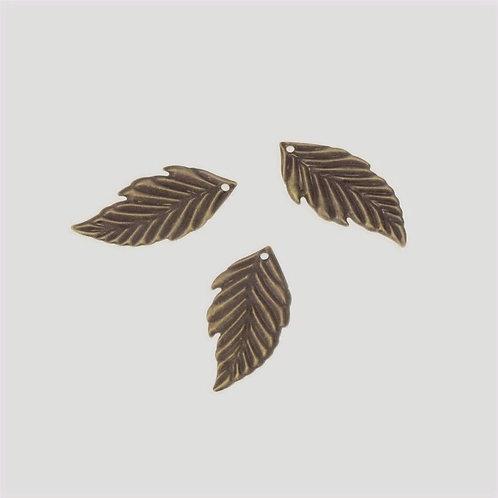 Filigrana Hoja Fina bronce (4uds) 4cm largo