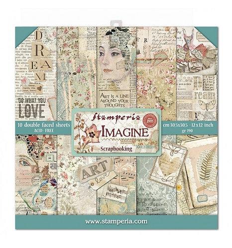 """Stamperia""""Imagine"""" 22 hojas 30,5x30,5"""