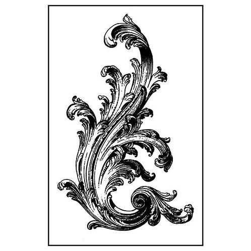 sello de goma natural cm.7x11 Voluta victoriana de Stamperia