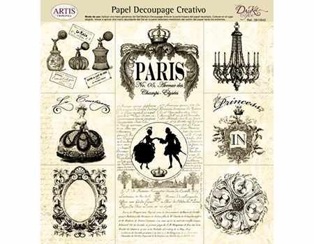 Dayka papel Decoupage 32 x 31 paris vintage