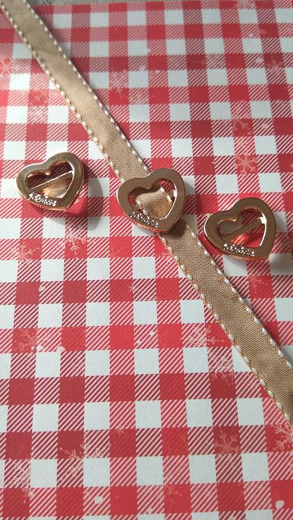 """Hebilla de acrílico """"corazón"""" 2 cm (3 uds)"""