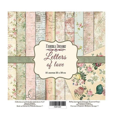 "Fabrika decoru ""Letters of love"" 20x20"