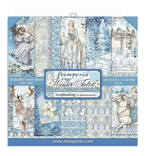 "Stamperia""Winter tales"" 10 hojas 30,5x30,5"