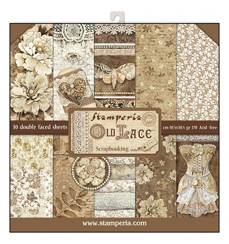 """Stamperia""""Old Lace"""" 30,5x30,5"""