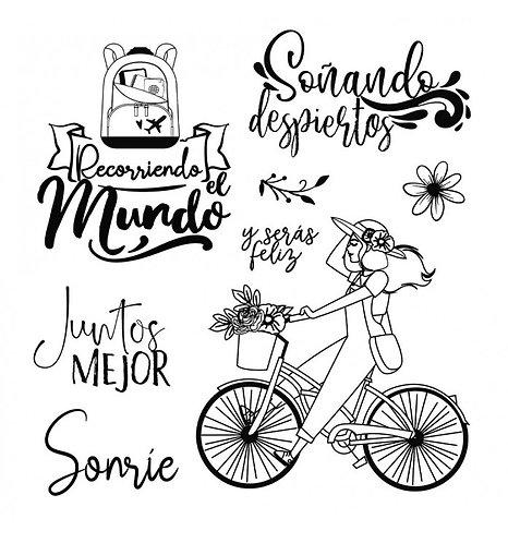 """Sello """"Bicicleta"""". 9,5x10,5cm """"Johanna Rivero"""