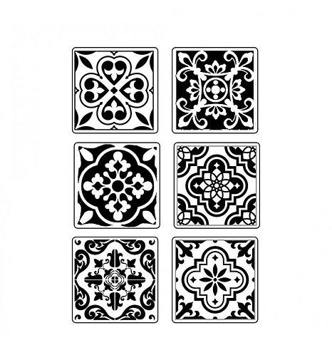 """Molde flexible """"Azulejos"""" de Stamperia"""