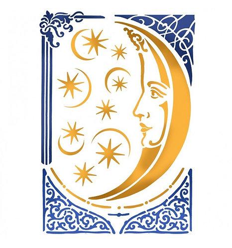 """Stencil """"Luna Mágica"""" Stamperia 21x29,7cm"""