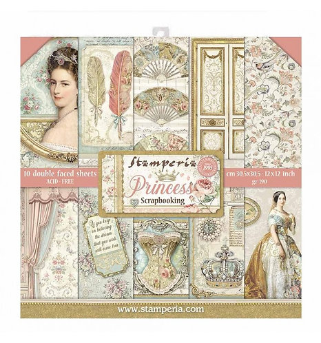 "Stamperia""Princess"" 10 hojas 30,5x30,5"