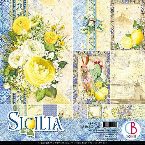 """CIAO BELLA""""Sicilia""""12""""x12"""" 12 papeles"""