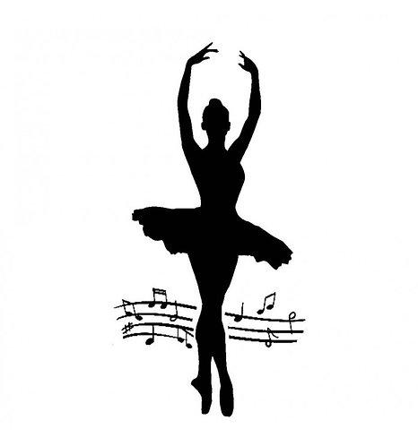 """Stencil """"Dancer"""" Stamperia 12x25cm, 0,25mm espesor"""