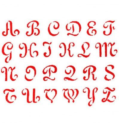 Stencil letras antigüas de Stamperia 15x20cm