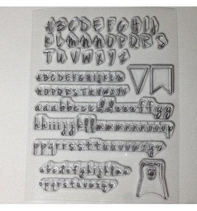 Sello acrílicos abecedario