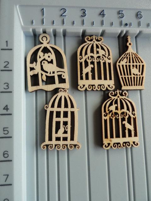 Jaulas de madera para adornar (10uds)