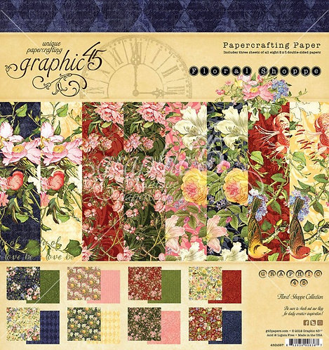 GRAPHIC 45 Floral Shoppe  20 cm  x 20 cm