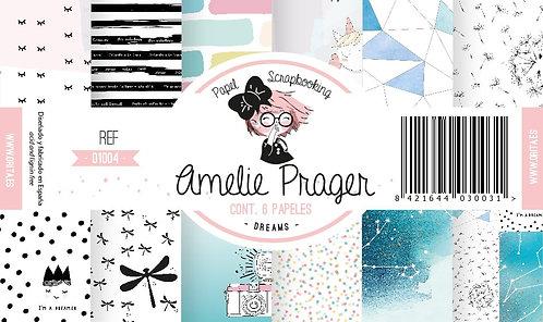 "Colección AMELIE PRAGER ""Dreams"" 6 Papeles 2 caras"