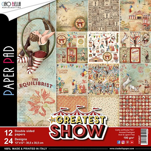 """CIAO BELLA""""Greatest Show""""12""""x12"""" 12 papeles"""