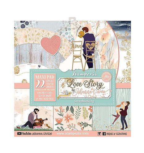 "Stamperia""Love Story"" 22 hojas 30,5x30,5"