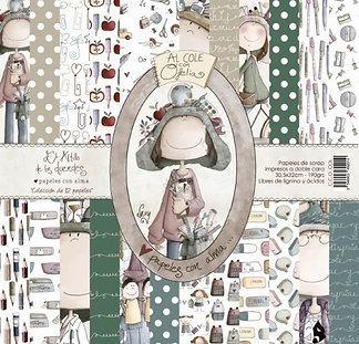 """El altillo de los Duendes """"Al cole con Ofelia"""" 30,5x30,5cm"""