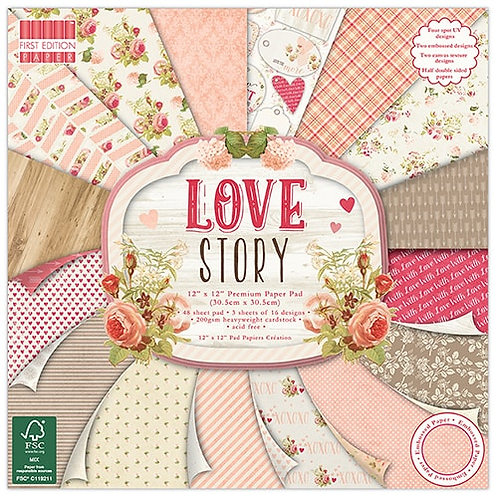 FIRST EDITION Love Story 30 x 30 cm