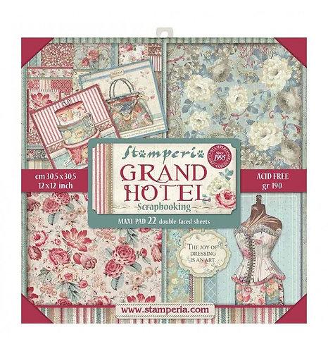 """Stamperia""""Grand Hotel"""" 22 hojas 30,5x30,5"""
