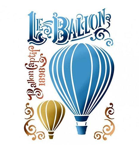 """Stencil """"Le Ballon"""" Stamperia 21x29,7cm"""