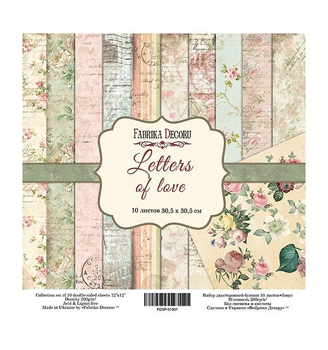 "Fabrika decoru ""Letters of Love"" 30,5 X 30,5"