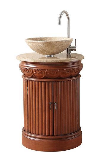 "23"" Edwina Single Sink Vanity with Travertine Marble Top"