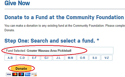Community Foundation Donate Instructions