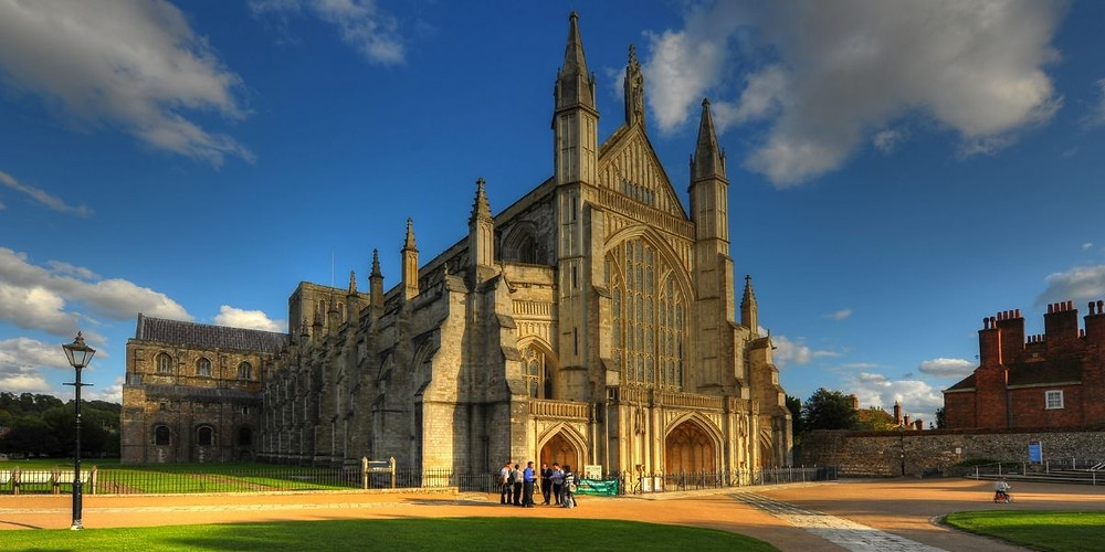 Winchester Cathedral in Winchester Hampshire
