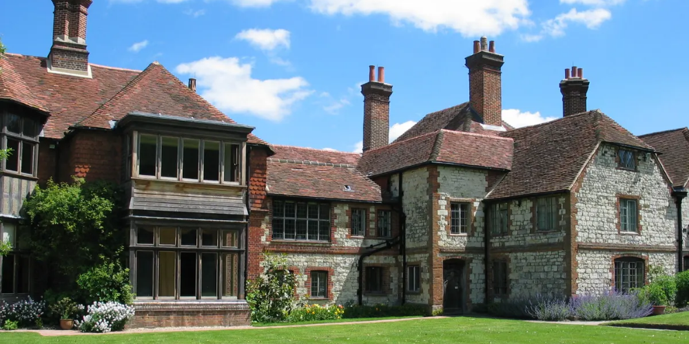 Exterior of Gilbert White's House & Gardens Selbourne in Hampshire